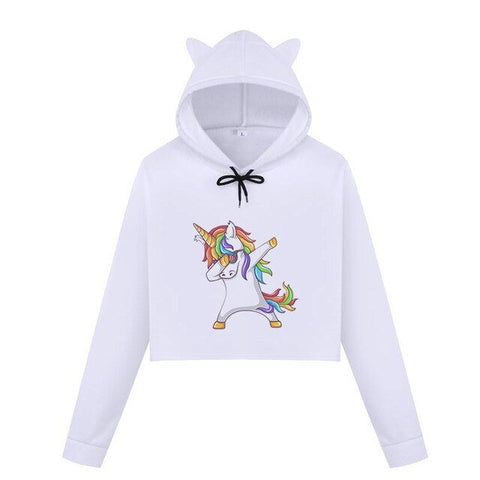 "Sweat Crop Top ""Lil Licorne"" Dab - monde-licorne"