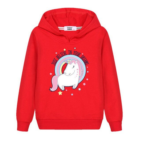Sweat Licorne fille - Rouge
