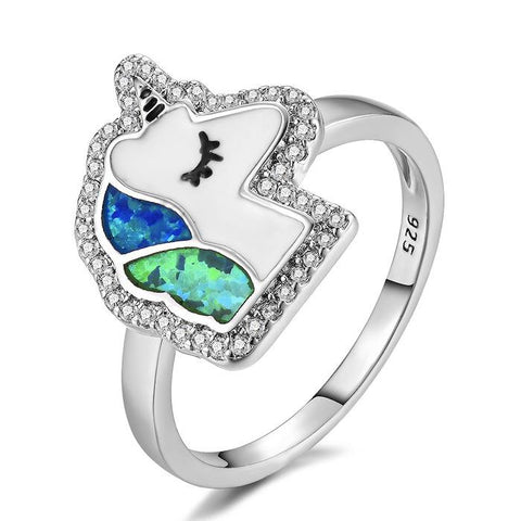 bague licorne argent style kawaii
