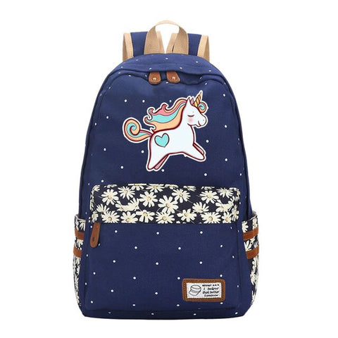 "Cartable Licorne ""multicolore"" - monde-licorne"
