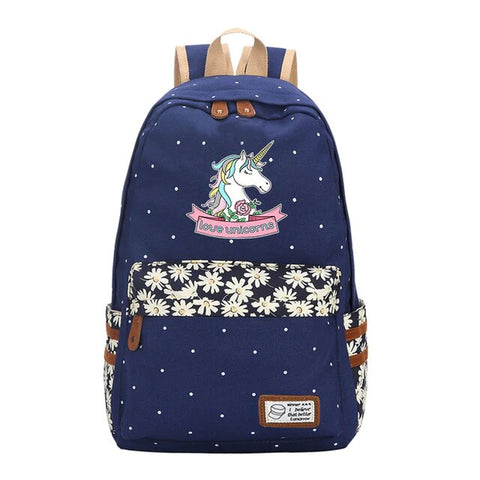 "Cartable Licorne<br>""Love Unicorn"" - monde-licorne"
