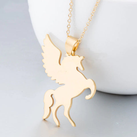 Collier Licorne Couleur Or - monde-licorne