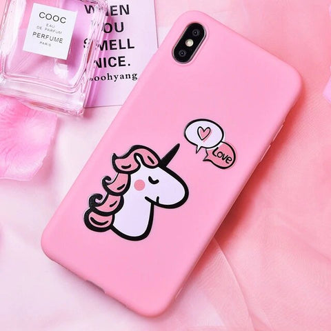Coque Licorne Iphone Rose - monde-licorne