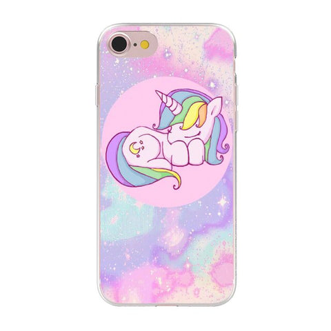 coque licorne iphone multicolore