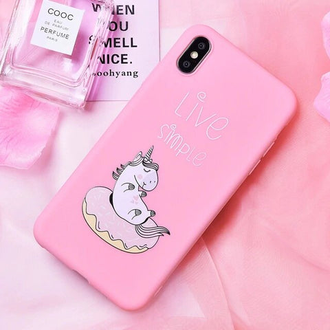 "Coque Licorne Iphone ""Live Simple"" - monde-licorne"