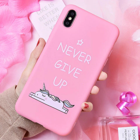 coque iphone 8 never give up