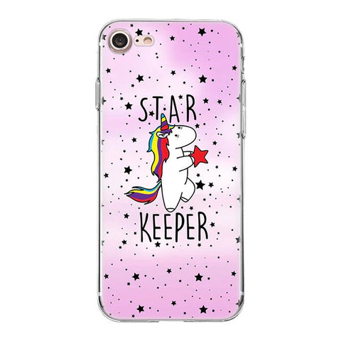 coque licorne rose star keeper pour iphone