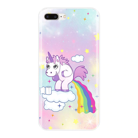 Coque iPhone Licorne Caca Arc en Ciel