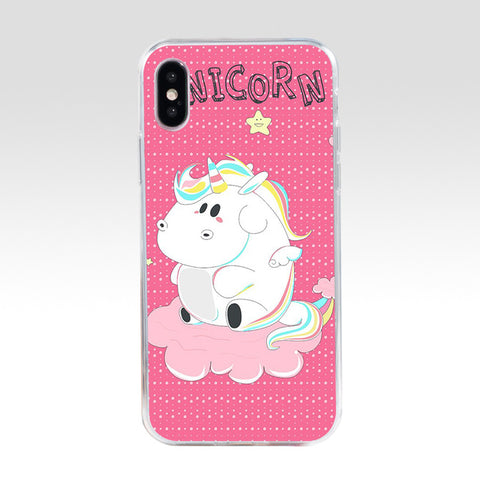 coque iphone motif peluche licorne gourmande