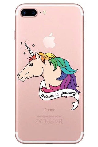Coque iPhone Portrait Licorne