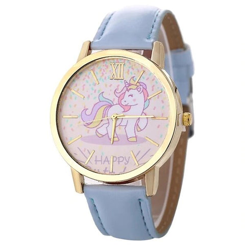 Montre happy Licorne bleu