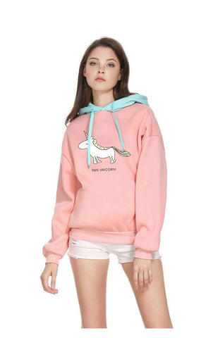 "Sweat Licorne ""Run Unicorn!"" - monde-licorne"