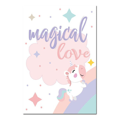 Toile Licorne Magical Love