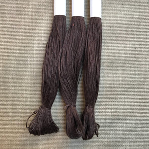 HV-linen No. 9 Dark Brown 40/2
