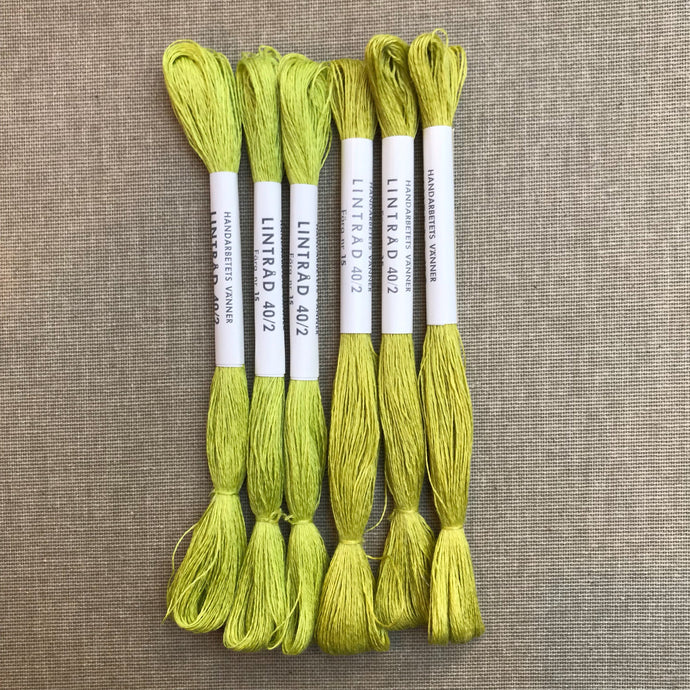 HV-linen No. 15 Acid Yellow/Green 40/2