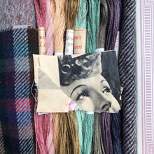 Load image into Gallery viewer, Linen, Tweed & vintage silk set #12