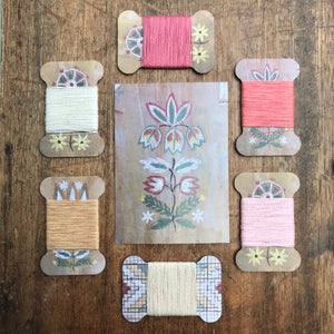 Bloom linen thread card set