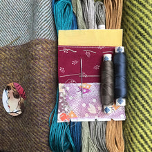 Load image into Gallery viewer, Linen, Tweed & vintage silk set #11
