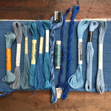 Load image into Gallery viewer, Blue linen, cotton & silk set #6