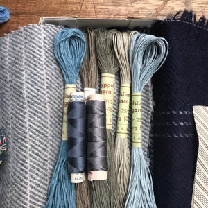 Linen, Tweed & vintage silk set #4