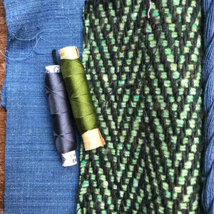 Linen, Tweed & vintage silk set #10
