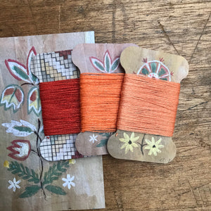 Cloudberry linen thread card set