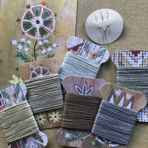 Mineral 2 - llinen thread card set