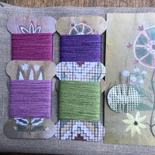 Load image into Gallery viewer, Gem Linen tea towel & thread card set - Favourites