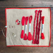 Load image into Gallery viewer, Red linen, cotton & silk set #2