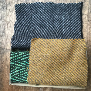 Linen, Tweed & vintage silk set #9