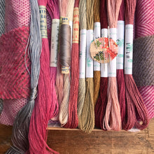 Load image into Gallery viewer, Linen, Tweed & vintage silk set Dusty pink