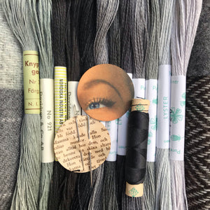 Linen, Tweed & vintage silk set #43