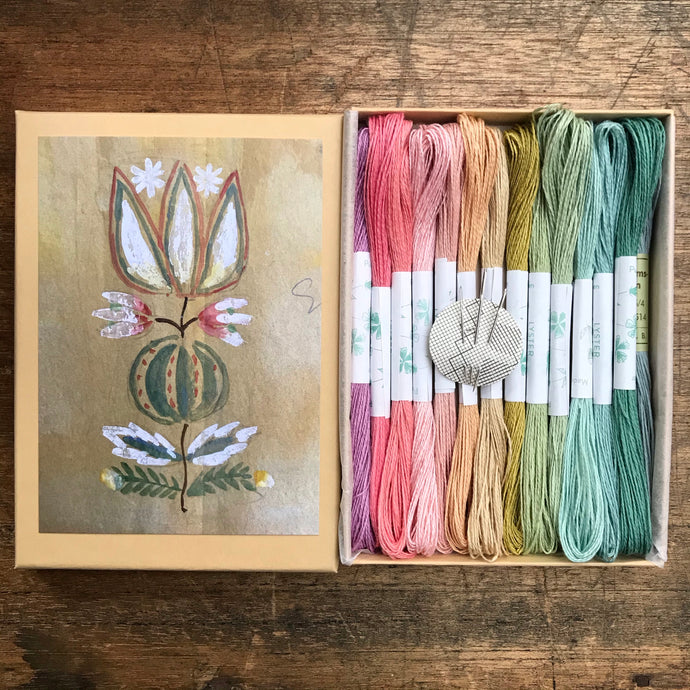 Pastel Flax Flower Box