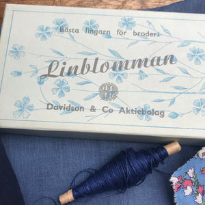 Blue Linen Treasure Box