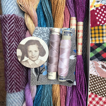 Load image into Gallery viewer, Linen, Tweed & vintage silk set #6