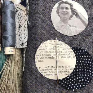 Linen, Tweed & vintage silk set #12