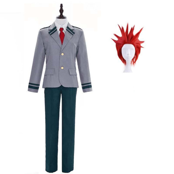 Boku No Hero / My Hero Academia Eijiro Kirishima School Uniform Cosplay Costumes with Wigs