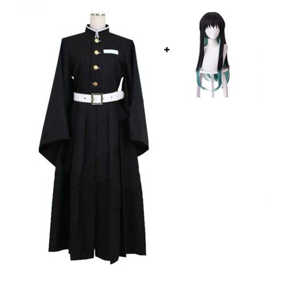 Anime Demon Slayer/Kimetsu No Yaiba Tokitou Muichirou Cosplay Costume With Wigs