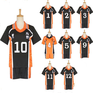 Anime Haikyuu!! Karasuno Cosplay Costume  Cosplay T-shirt and Shorts Set