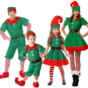 2019 Christmas Elf Costume Family Matching Elf Costume