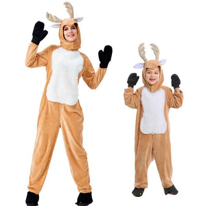 2019 Parents and Kids Christmas Reindeer Family Matching Costume