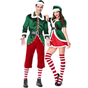 2019 Couple Matching Christmas Elf Costume Christmas Holiday He and She Elf Outfit
