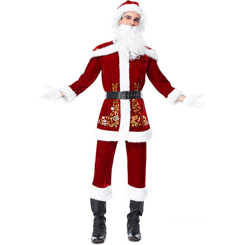 2019 New Santa Suit Santa Claus Costume Outfit Adults' Men's Christmas Costume