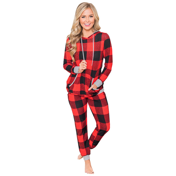 2020 Christmas Pajama For Women Hoodie and Sweatpants Set Loungewear