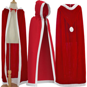 2020 Christmas Santa Claus Cloak Costume Red Christams Hooded Cloak