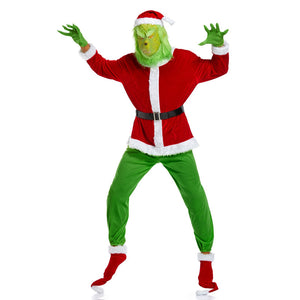 2020 Christmas The Grinch Costume Full Set