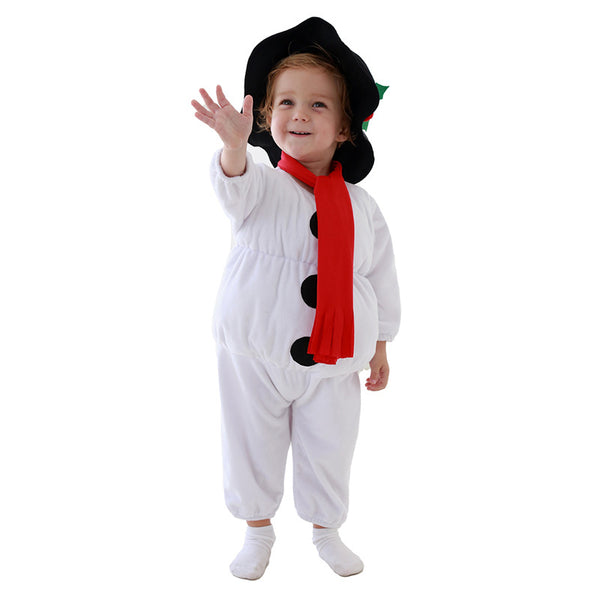 2020 Christmas Toddler Unisex Snowman Costume Full Set