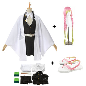 Anime Demon Slayer/Kimetsu No Yaiba Kanroji Mitsuri Cosplay Costume With Wigs and Shoes