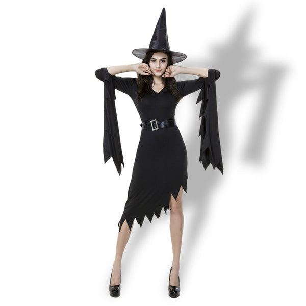 Black Irregular Dress Nun Witch Cosplay Costume Halloween/Stage Performance/Party