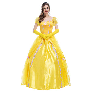 Adult Women Disney Beauty And The Beast Belle Princess Dress Costume Halloween / Stage Performance / Party